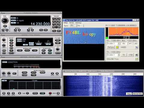 SSTV on 20m band - GM0PLH to PY4BL - 2010.08.29