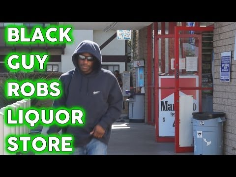 Black Guy Robs A Liquor Store video