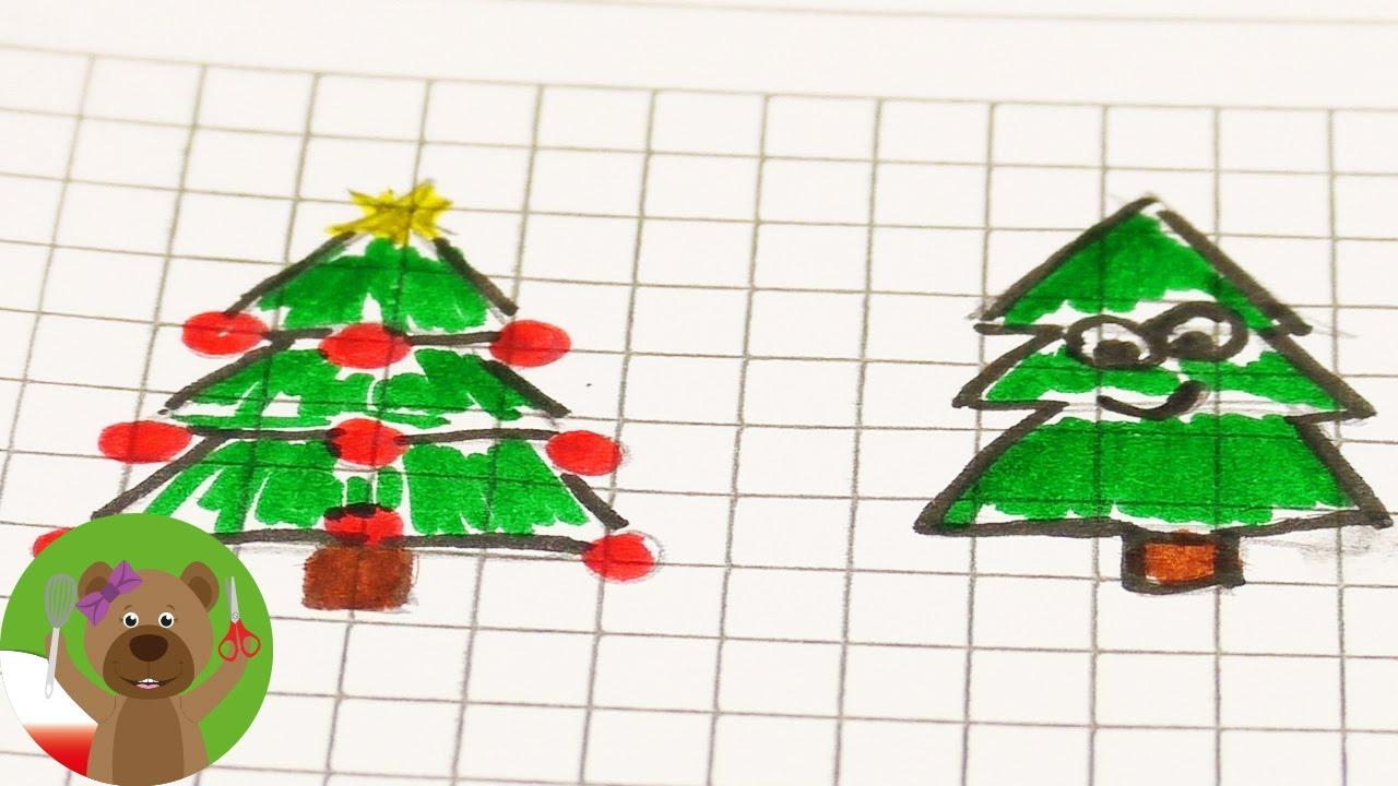 Malowanie w zeszycie | motywy świątecze | choinki, bałwan, gwiazdki