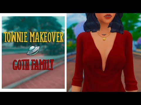 TS4 | Townie makeover #1 | Семья Гот