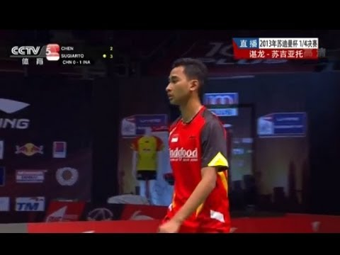 【2013 Sudirman Cup】QF (CHN VS IND) MS2  Chen Long VS Sugiarto Tommy