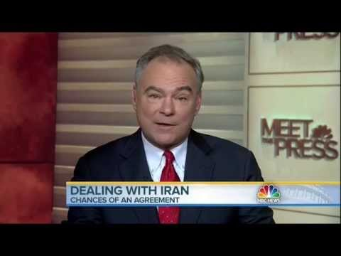 On Meet the Press, Kaine Discusses Congress' Role in Iran Nuclear Deal