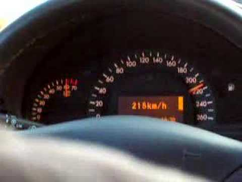 Mercedes Benz C320 Top Speed 0 258km H Youtube