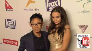James Wan and Ingrid Bisu at the Australians In Film's 5th Annual Awards Gala at NeueHouse in Hollyw