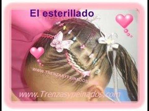 Peinado para niñas (ESTERILLADO Y TRENZA POSTIZA)