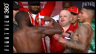 BUD SWINGS! JOSE DIPS! CRAWFORD VS BENAVIDEZ WEIGH IN RESULTS! FIGHT STILL ON! THE BLOOD IS BAD!
