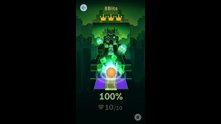 Rolling Sky | 8Bits All Gems and Crowns %100