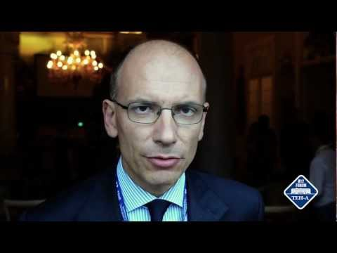 The future in 1 minute. Enrico Letta at The European House – Ambrosetti 2012 [EXCLUSIVE][VIDEO]