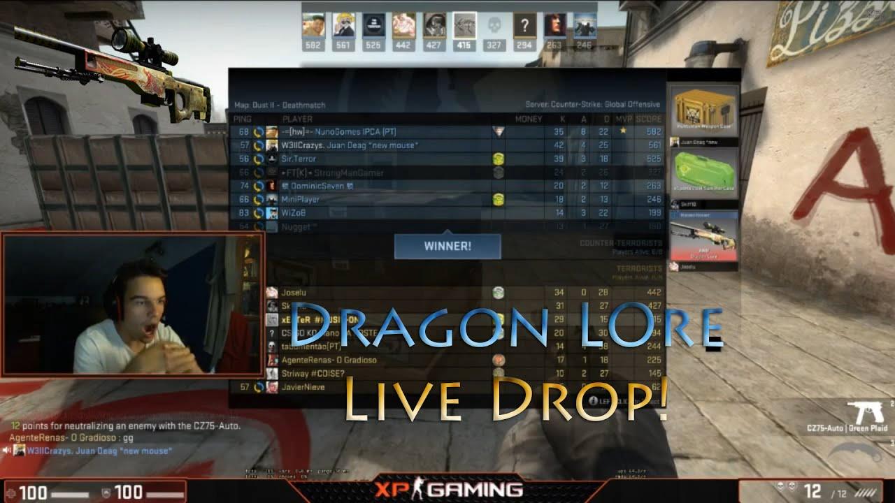 Cs Go Awp Dragon Lore Live Drop Mw Youtube