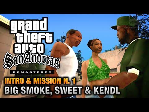 GTA San Andreas Remastered - Intro & Mission #1 - Big Smoke, Sweet & Kendl (Xbox 360)