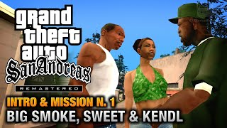 GTA San Andreas Remastered - Intro & Mission #1 - Big Smoke, Sweet & Kendl (Xbox 360)