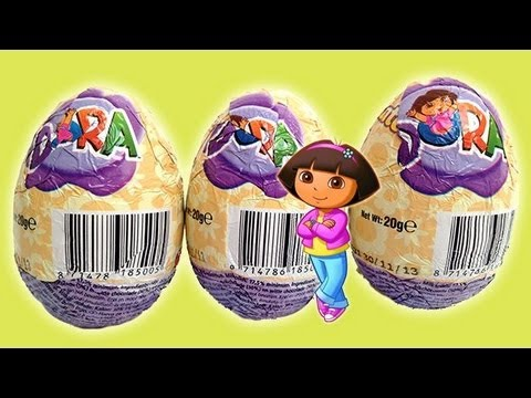 3 Dora The Explorer Surprise Eggs Unboxing - Toy Review