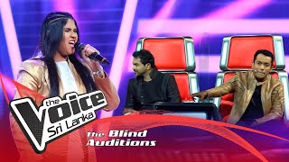 Udeshika Karunanayake - The Power Of Love | Blind Auditions | The Voice Sri Lanka