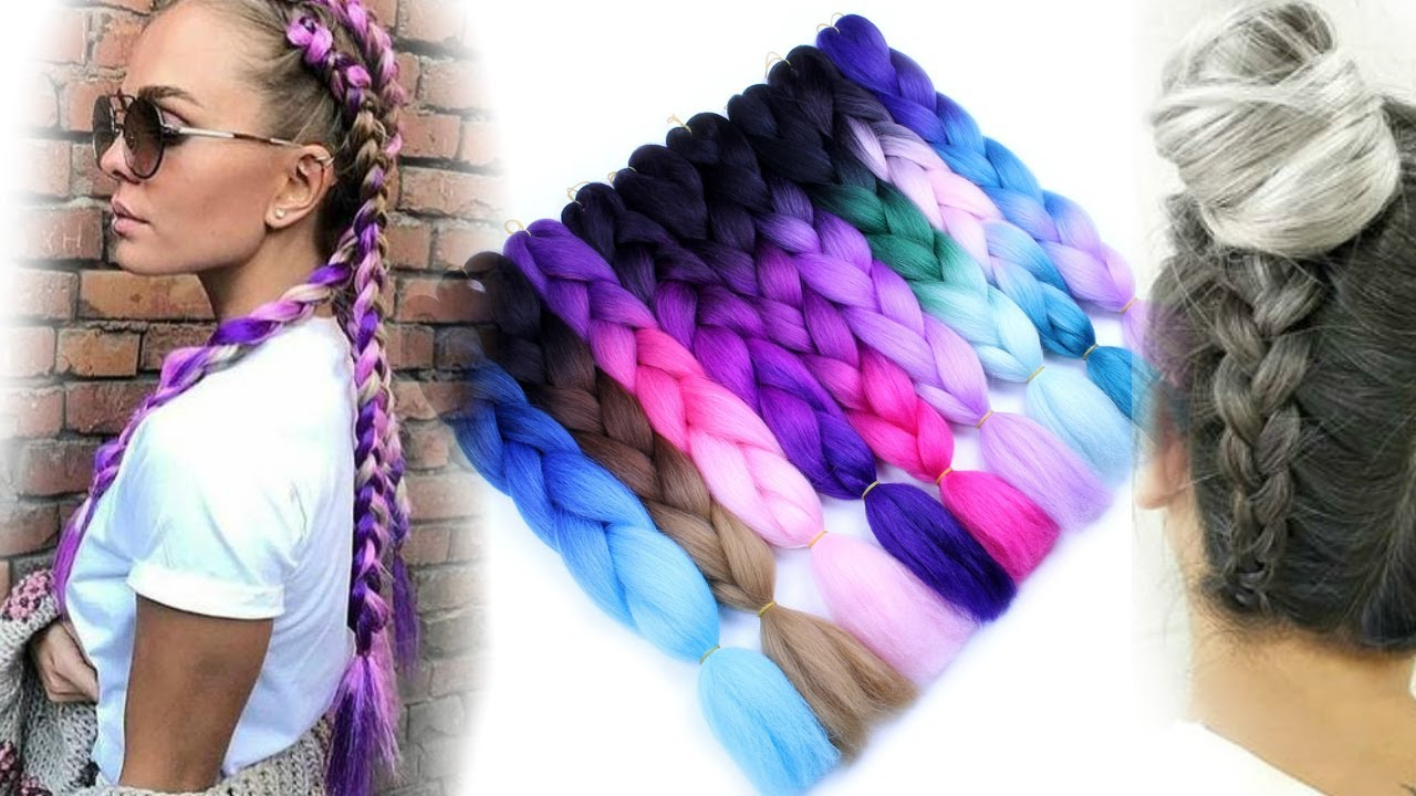 Плетение цветных косичек