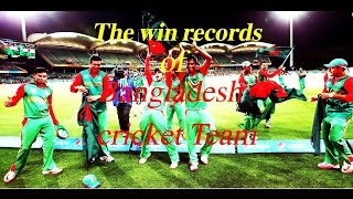 The win records of Bangladesh cricket Team l Bangladesh cricket team l Bangladesh Tigers