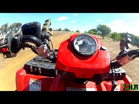 Polaris Sportsman 500 With 4 People! - GoPro Hero2 1080p!