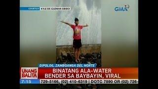 UB: Binatang ala-water bender sa baybayin, viral