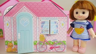 Baby doll paper house and toys baby Doli play