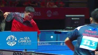 Table Tennis Men's Singles Philippines vs Indonesia | 28th SEA Games Singapore 2015
