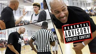 LaVar Ball UNCENSORED COACHING: PART 1 - Lavar VS AAU Referees in Big Ballers LOSS!