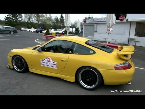 Modified Porsche 996 GT3 Mk1 - Full throttle sounds!
