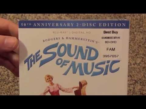 The Sound of Music 50th Anniversary 2-Disc Blu-Ray Unboxing