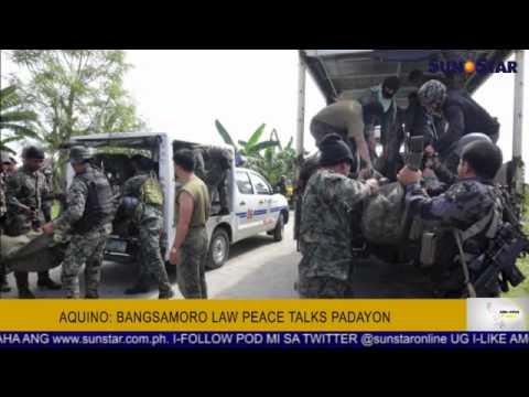 Aquino: Bangsamoro law peace talks padayon