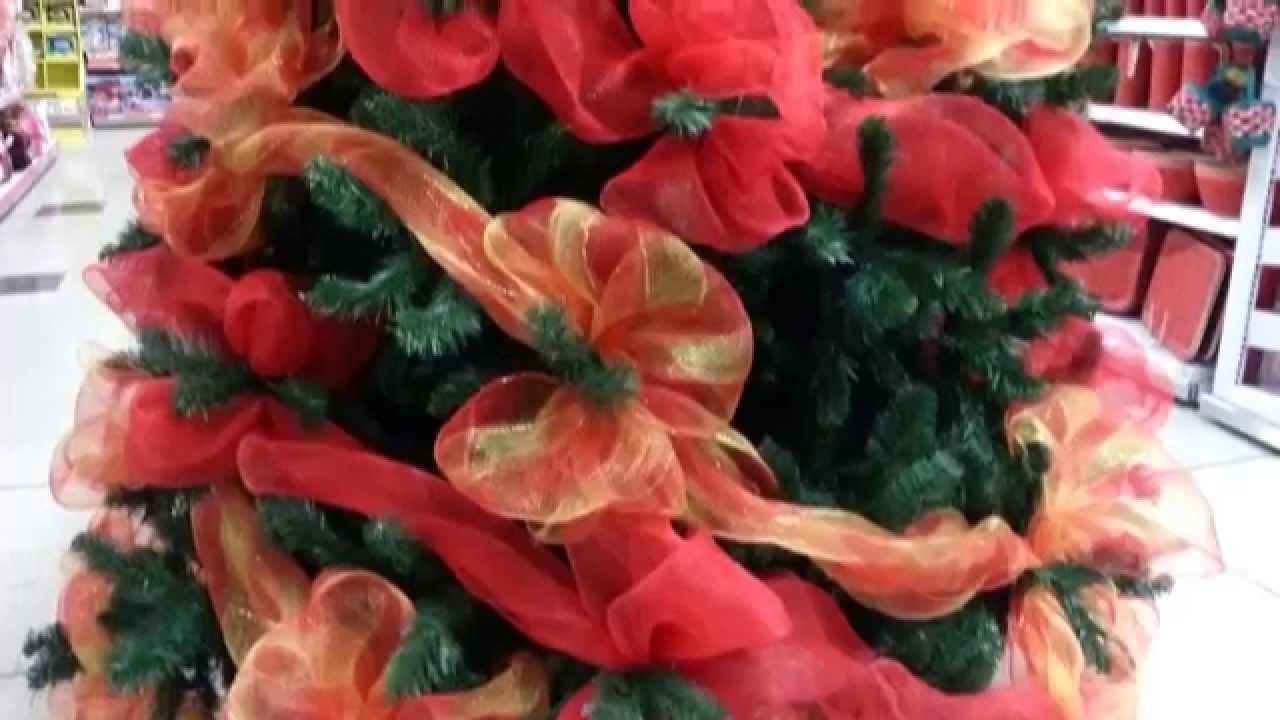 decoracion arboles de navidad 2015 mallas facil parte 18 On decoracion de navidad 2014