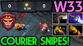W33 Dota 2 [Monkey King] Funny Game Courier Snipes!