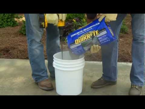 How to Use Quikrete Concrete Resurfacer   The Home Depot   YouTube