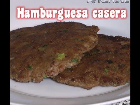 Hamburguesa Casera Receta, Fácil y Rapído