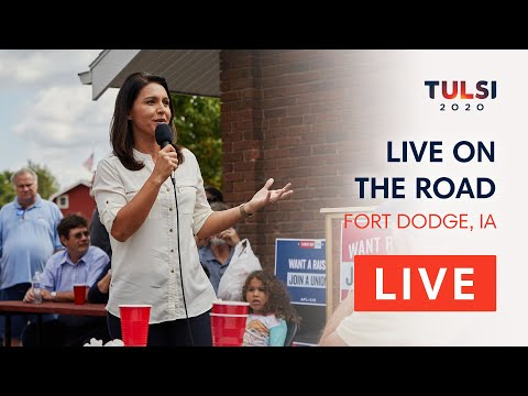 Tulsi Gabbard LIVE on the road - Fort Dodge Labor Day Picnic - Fort Dodge, IA