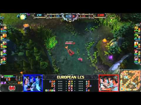 CW vs GMB - LCS 2013 EU Spring W8D2 (English)