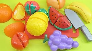 Learn Names of Fruits and Vegetables with Toy Velcro Cutting Fruits and Vegetables ESL