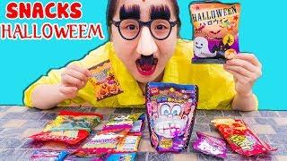 Trò Chơi Mua Và Ăn Bim Bim Halloween Vui Nhộn- Eating Halloween Snacks❤ KN CHENO Chị Hằng