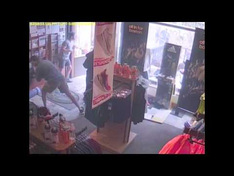 Boston Marathon Bombing Scene From Inside Marathon Sports Store