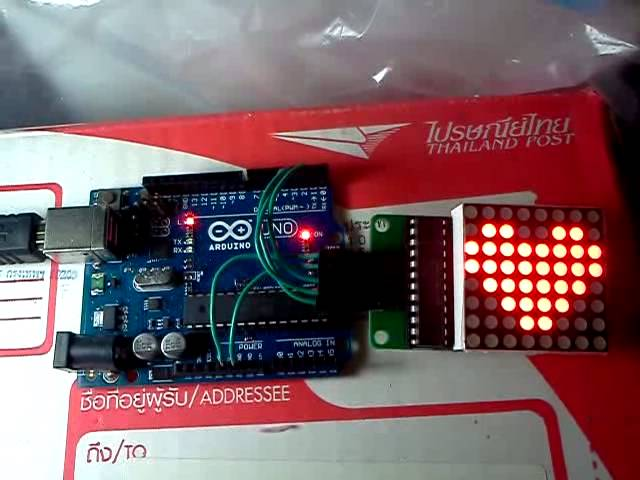 ICStation 8x8 MAX7219 Red LED Light Lamp Display