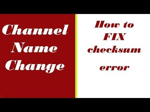 How to Fix Checksum Error in Computer | Channel Name change to Tech Guru Manjit