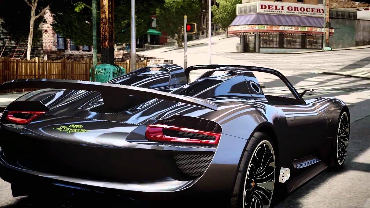 grand theft auto iv porsche 918 spyder concept youtube. Black Bedroom Furniture Sets. Home Design Ideas