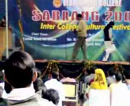 saranshs solo dance performance..view 2