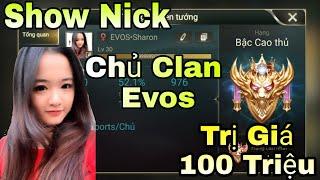 Liên Quân | Show Nick Khủng Trị Giá 100 Triệu Của Chủ Clan EVOS Xinh Gái - 21 Viên Đá Quý