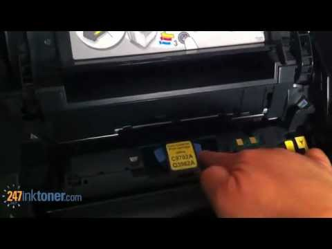 How to change the HP 2840 toner cartridges by 247inktoner.com