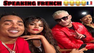Selena gomez , cardi b , ozuna and dj snake speaking french