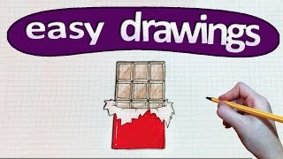 Easy drawings #212 How to draw a chocolate / drawing for kids