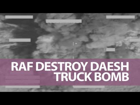 RAF Tornados strike Daesh truck-bomb 20 June 2016