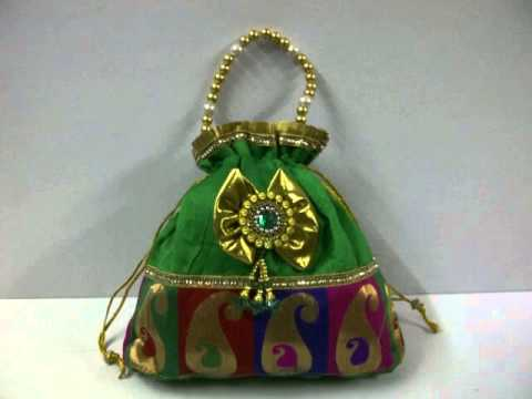 Wedding Return Gift Bags : ... nags evening bags favors return gifts hand bags ranjanaartsYouTube