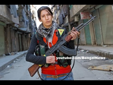 Brave Kurdish Female Fighters Defend Kobani Against ISIS