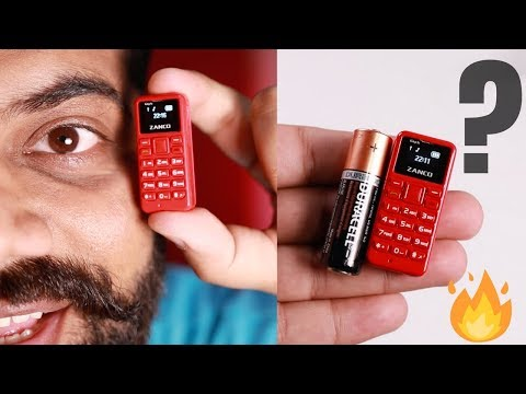 World's Smallest Phone Unboxing And Giveaway Zanco Tiny T1