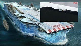Something Huge disguised as an Iceberg floating around in Antarctica?