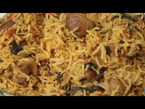 Mushroom Pulao|Lunch Box Recipe
